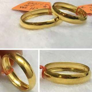 916 Gold Ring Size 23.5