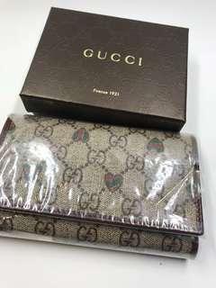 Gucci Wallet 三摺真皮製造 全新購自意大利