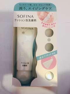 日本直送SOFINA泡沫潔面乳洗面奶120g清爽保溼深層清潔
