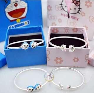 [Instock] Doraemon S925 Silver Bracelet