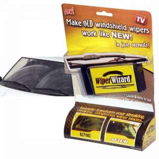 Wiper Wizard Clean and Brush Wiper Car Rain Wiper Cleaner