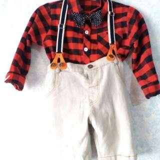 Short with suspender