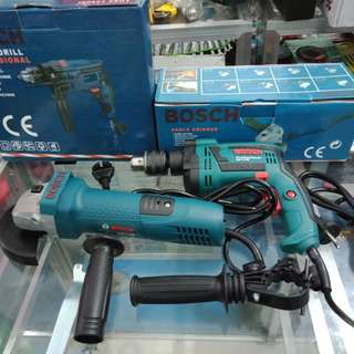 Bosch Angle Grinder and Impact Dill