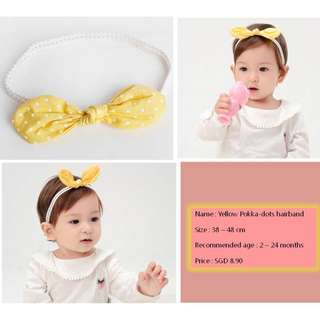 Cute/Soft/adorable/Flexible HairBand for baby girl!