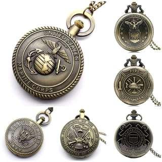 US Army Pocket Chain Watch