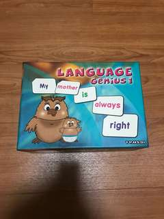 Tensai Shichida Language Genius Flash Cards