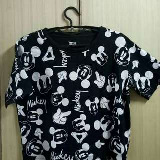 Mickey mouse semi crop top.