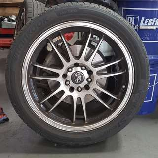 4 × USED Subaru IMPREZA RS Rims & Tyres
