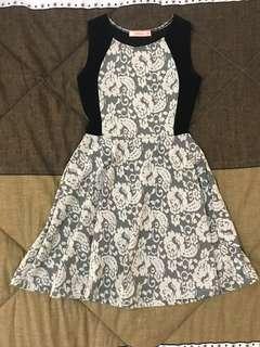 Black Lace Lined Dress