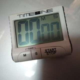 TIMELINE 牌子計時器 (有分有秒) 白色 可以站 有磁性背面