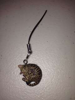 Sleeping Cat Phone Charm / Keychain