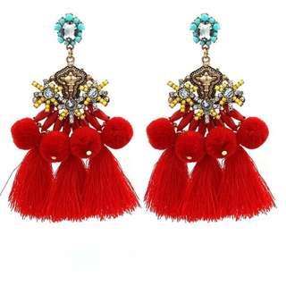Dangle Drop Tassel Earrings