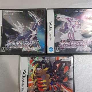 Japanese Pokemon Diamond, Pearl & Platinum