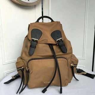 Burberry Nylon Men's Rucksack  Backpack Brown