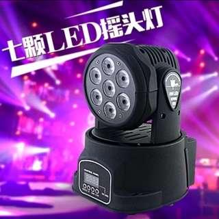 七顆七色10wLED搖頭燈派對婚宴節日 (elecone系列) (包Buyup自取) (party disco led lighting)