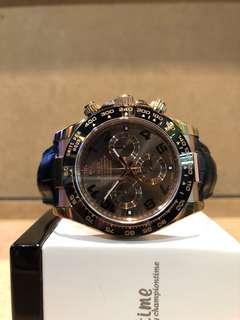 Authentic Rolex Oyster Daytona 116515LN Chocolate Dial Automatic Rose Gold Casing Leather
