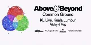 Above & Beyond KL Live 4 May 2018 VIP Ticket