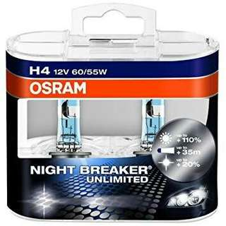 Osram Nightbreaker Unlimited plus Halogen Bulb H4