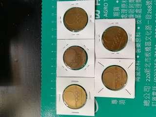 1964年日本銅章5枚