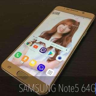 SAMSUNG Note5 64G(金色)