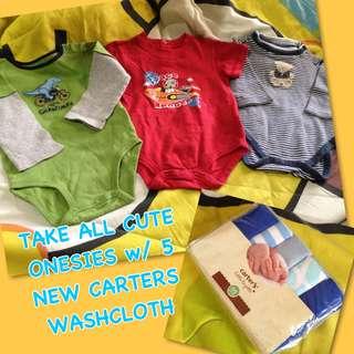 SALE! Repriced! Baby bundle take all cute onesies