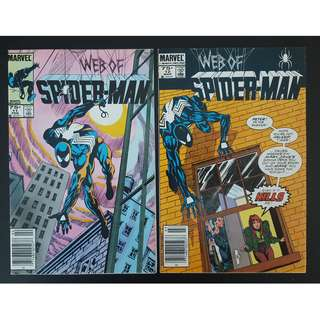 Web of Spider-Man #11 & 12 (1986 1st Series)-Set Of 2,  Beautiful Cover (#11) by Mark Beachum and Geof Isherwood!
