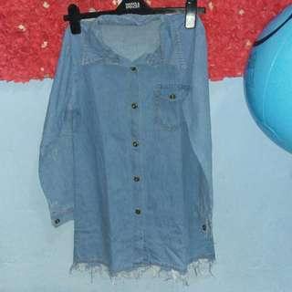 Tunik/minidress semi jeans tebel