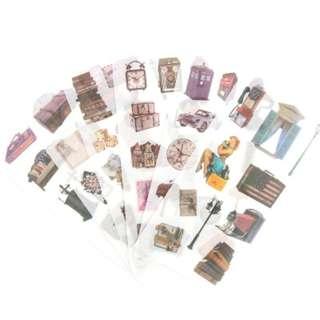 Washi Sticker Set (Vintage Items) (Ref No.: 221)