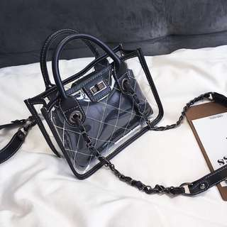 Chanel 2018 Inspired Transparent Shoulder Bag