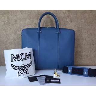 MCM MMF 5SLS61 LU001 MEDIUM BUSINESS BRIEFCASE BAG