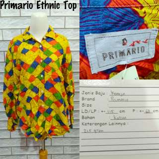Primario Ethnic Top   Pakaian Wanita   Atasan Import