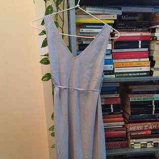 H & M summer v neck striped dress