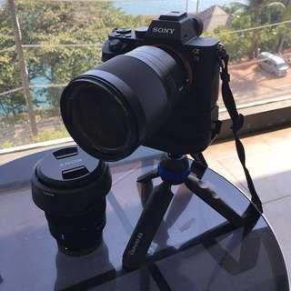 Sony A7II + zeiss 16-35mm + 28-70mm kit lens.....