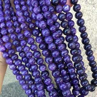 天然精品紫龍晶塔鏈 尺寸5.5-16mm 自然光拍攝 品相漂亮 一組7串 重量590.5克 打包💰10800🉐️打包批發價