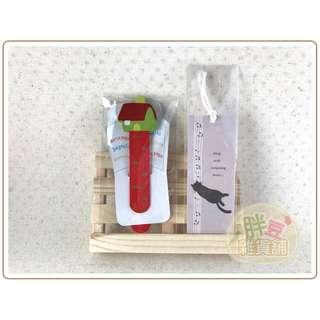 『胖豆雜貨舖』[全新] 木質房屋書籤+紙質貓咪書籤 (合售)