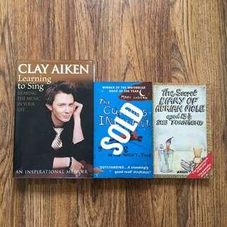 Books: Clay Aiken, Mark Haddon & Sue Townsend