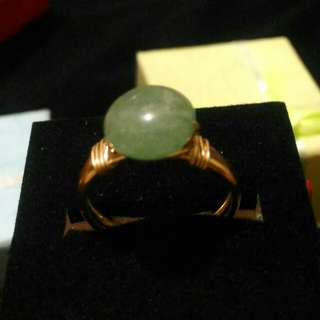10k gold filled ring with natural jade size 5