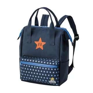 日本雜誌 laundry 星星刺繡圖案兩用手提包後背包 雙肩背包 學生 背囊 袋
