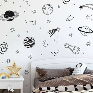 Outerspace Themed Wall Decal