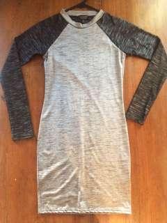 Topshop Long Sleeve Bodycon Mini Dress