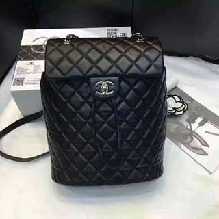 Chanel Lambskin Quilted Urban Spirit Backpack Black