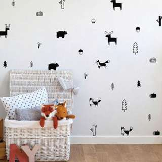 Woodland Themed Wall Decal