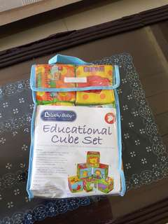 Educational soft cubes toy