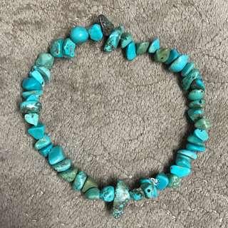 Turquoise Chipped Stone Bracelet
