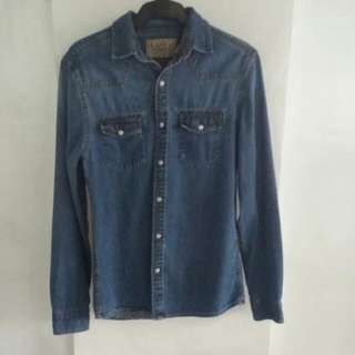 Easy Premium Vintage 1973 Brand Long-sleeved Denim shirt