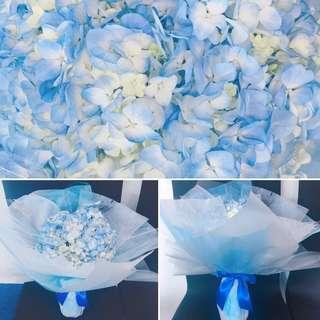Flower Bouquet - Hydrangeas