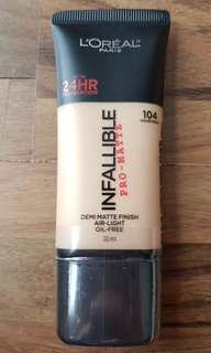 Loreal Infallible Pro-Matte shade 104 30ml