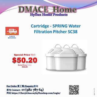 Hyflux Home Product:  Cartridge - SPRING Water Filtration Pitcher SC38