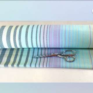 Pier Tint Azul Fabric 40inch Scrap