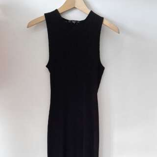 *Bershka* crochet back one piece long dress